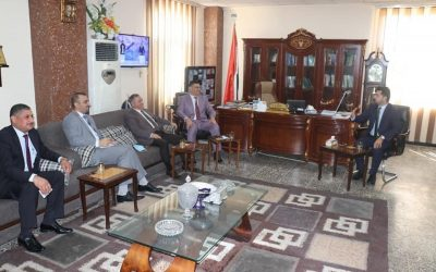 University Rector in sabaa Abkar Complex in an Inspection Visit