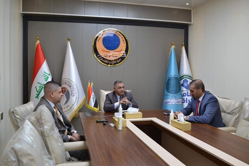 Rector of Al Iraqia University Visits College of Administration and Economics