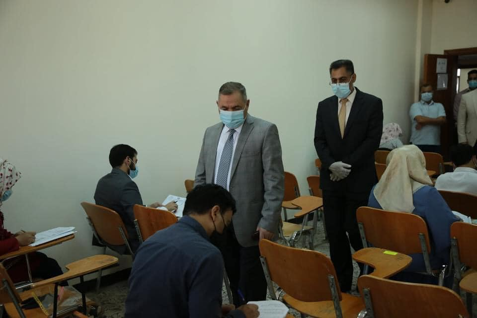 Rector of The University Inspects Conduct of Competitive Exams in All Faculties