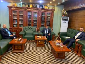 University Rector Receives the Rector of Basrha University for Oil and Gas